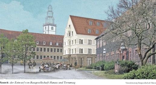 Schlossplatz Hanau, Entwurf von Terramag und Baugesellschaft